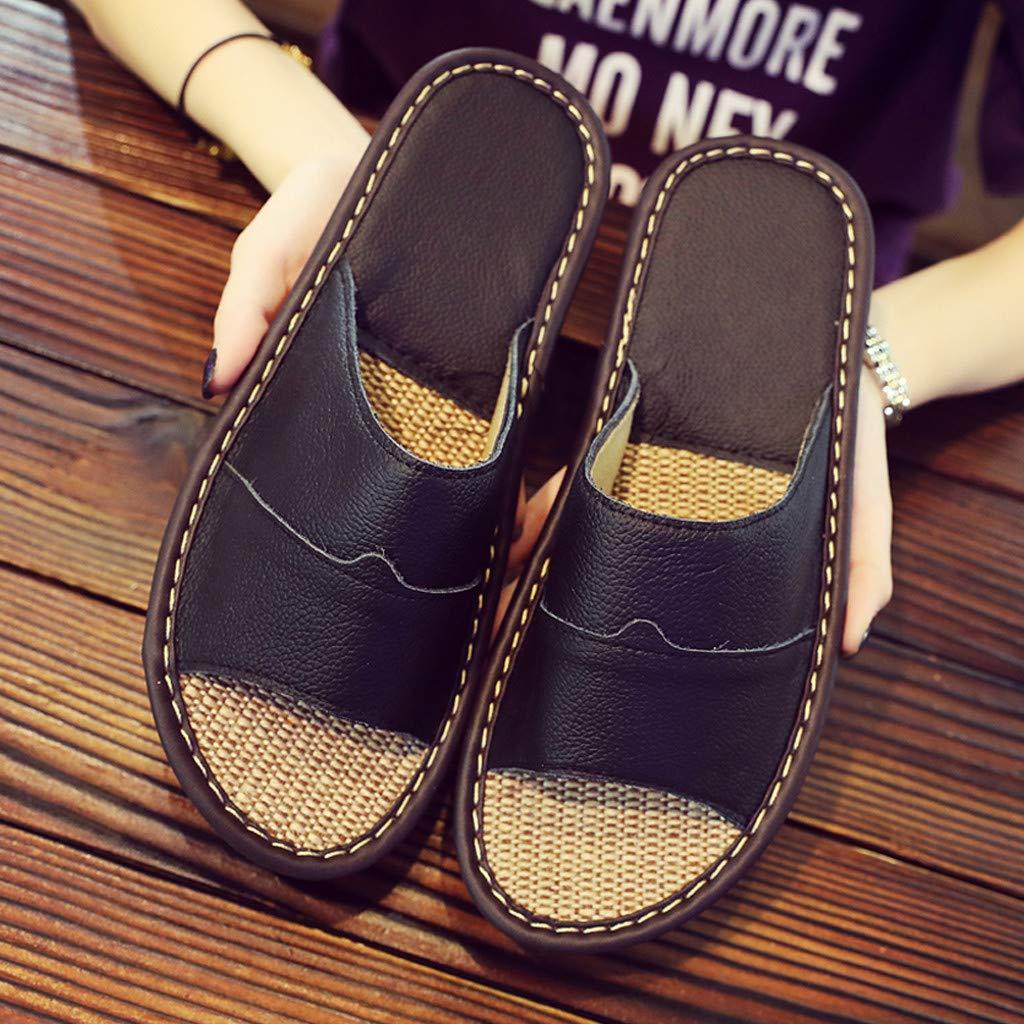 XLnuln Indoor Home Household Sandals Summer Unisex Couples Skid-Proof Home Slippers Beach Sandal Non-Slip Slippers
