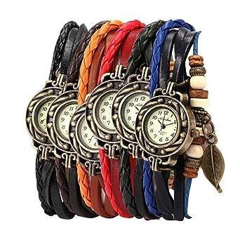 Amazon.com: Yunanwa - Juego de 6 relojes para mujer, estilo ...