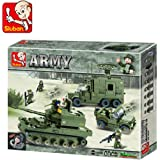 Sluban Army Elite Armored Division Building Block Toys 576 Pieces Multi Color LEGO Compatible Educational Toys M38-B0308