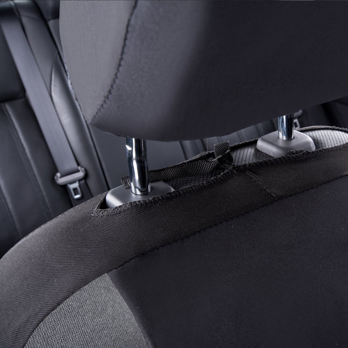 Universal fit for vehicles Car With 5mm Composite Sponge Inside,Airbag Compatiable CAR PASS Neoprene 6PCS waterproof Two front seat car seat covers set Black And Black HOLIDAY SALE