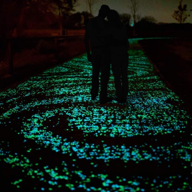 Blau Ulikey 200 St/ück Bunt Leuchtsteine Kieselsteine Leuchtende Kieselsteine Leuchtkiesel Floureszierende Pebble Steine f/ür Aquarium Garten Kinderzimmer Dekor