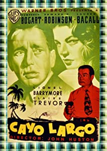 "16""x20""Decorative Movie Poster Reproduction.Key Largo.Bogart Bacall.Spanish Film.9514"