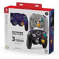 Paquete de 3 controles inalámbricos para Nintendo Switch estilo GameCube - Standard Edition