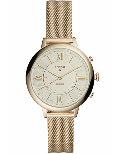 Fossil Q FTW5020 - Reloj Inteligente híbrido de Acero Inoxidable para Mujer, Color Dorado: Amazon.es: Relojes