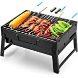 Uten Barbecue Grill Portable BBQ Charcoal Grill Smoker Grill for Outdoor Cooking Camping Hiking Picnics Backpacking