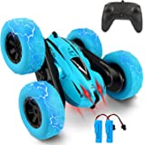 Remote Control Car, Bukm RC Stunt Cars Toy, 4WD 2.4Ghz Double Sided 360° Flips Rotating Vehicles, Off Road High Speed Racing