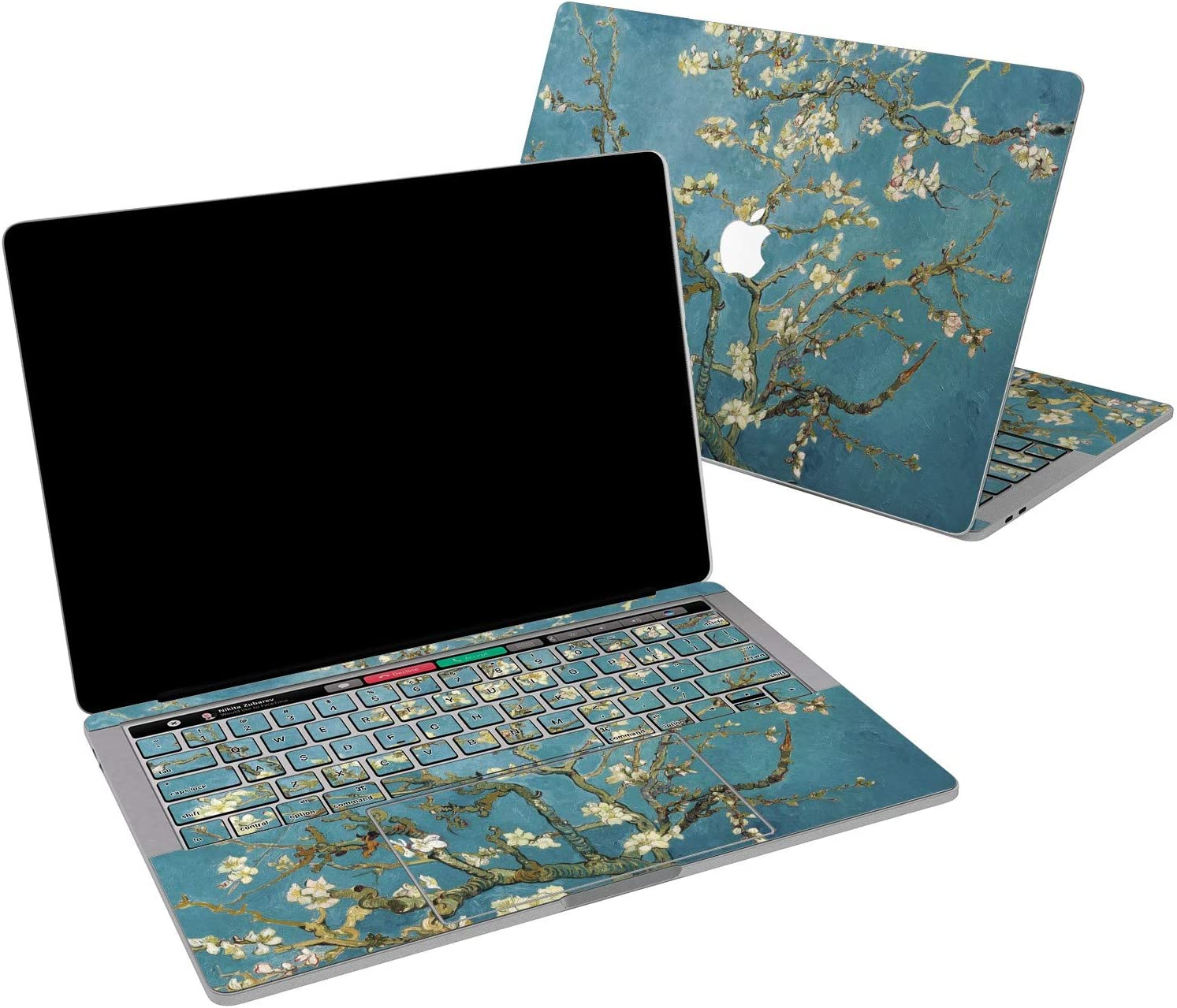 Lex Altern Vinyl Skin for MacBook Air 13 inch Mac Pro 16 15 Retina 12 11 2020 2019 2018 2017 Vincent Van Gogh Almond Tree in Blossom Floral Print Laptop Cover Keyboard Decal Sticker Design Women