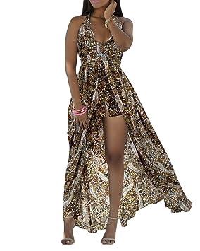 Vestidos de Fiesta Para Bodas Halter Asimetría Estampado Floral Hombro Desnudo Elegancia y Encanto