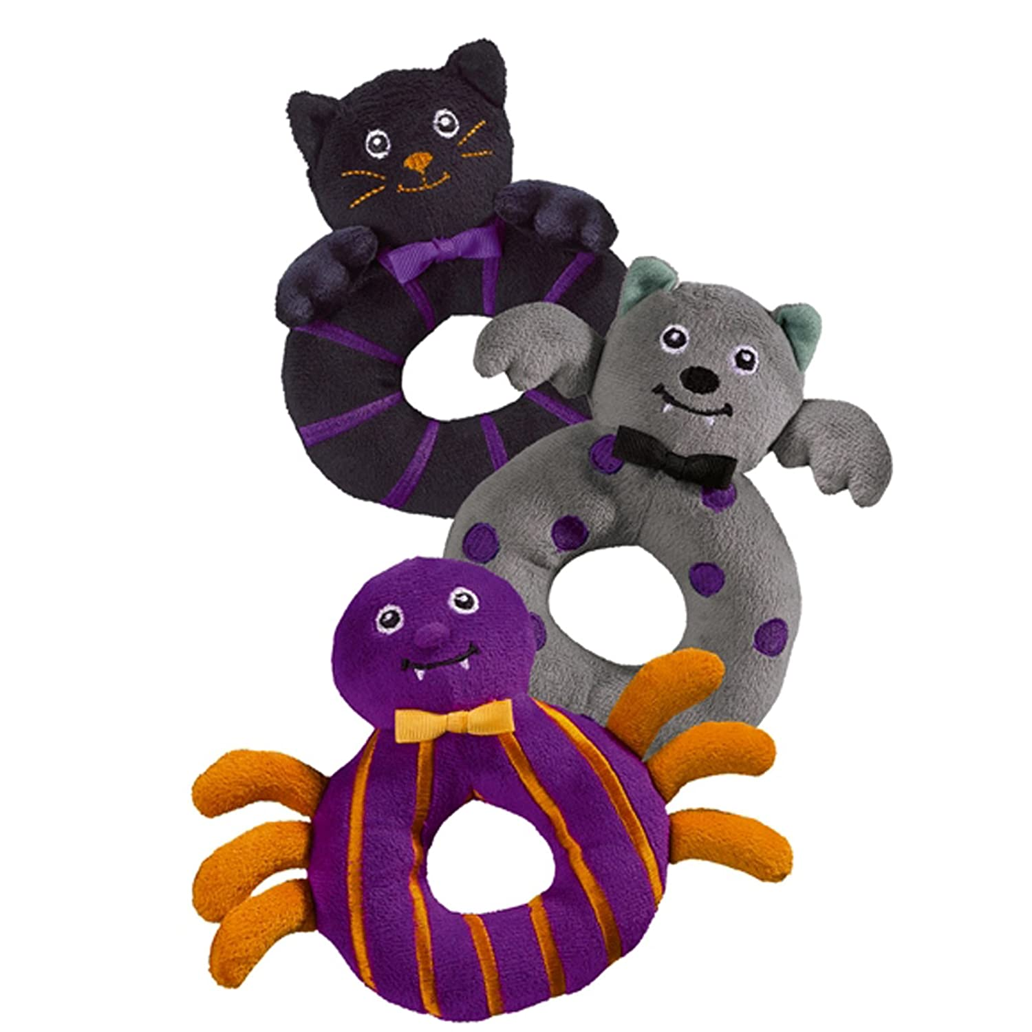 Halloween Bootiful Baby Ring Rattle (3 Pieces) 1 of each showing in picture! (3) Grasslands Road