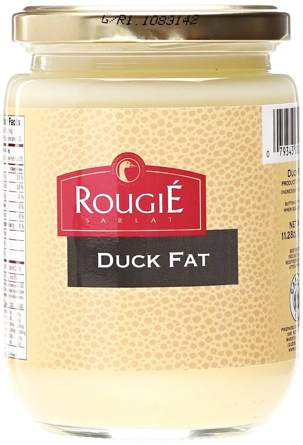 Rougie Rendered Duck Fat 320g 11.2 Ounce (4 PACK) by Rougie (Image #1)