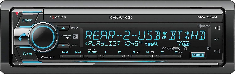 Kenwood KDC-X702 CD Receiver w/Bluetooth & HD Radio