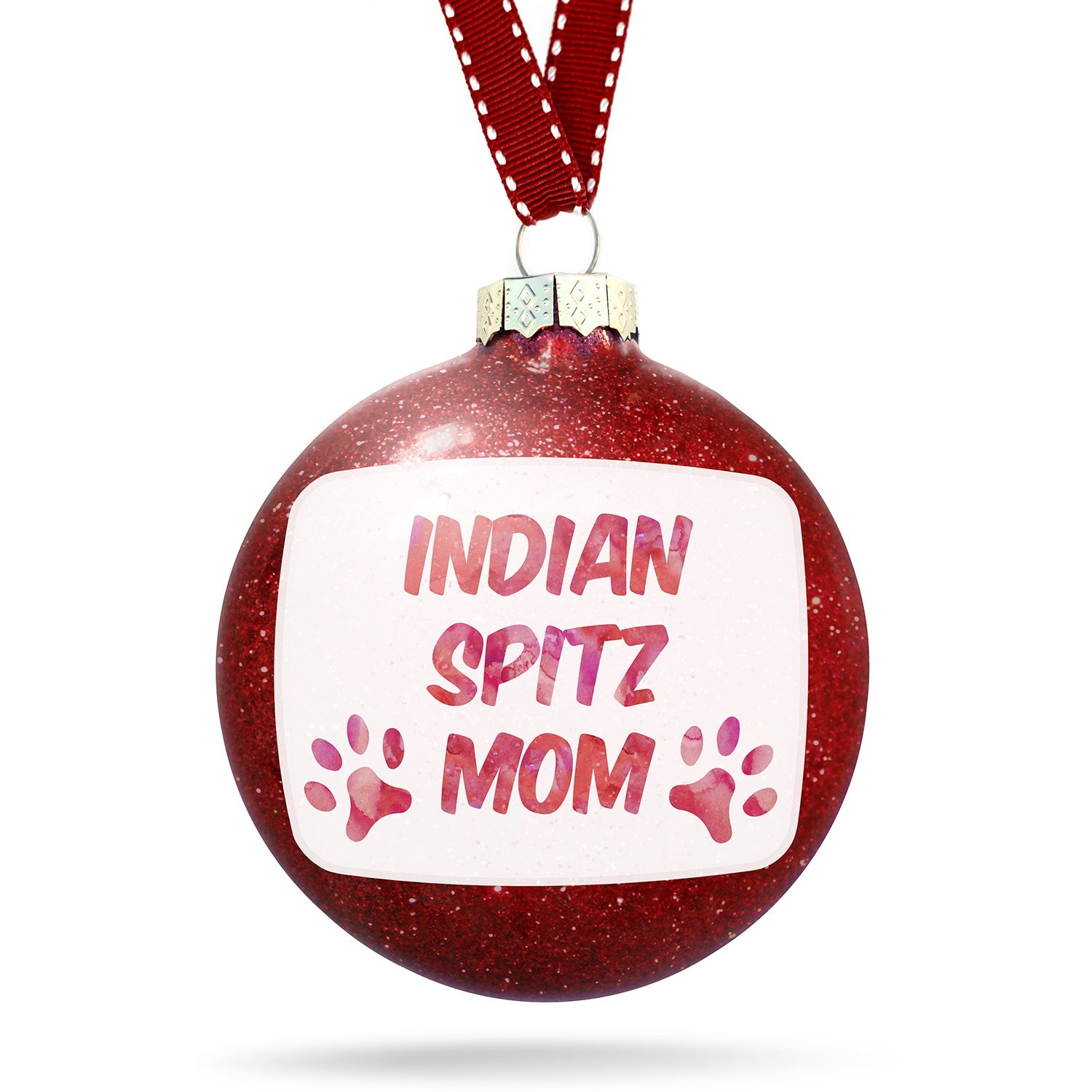 Amazon.com: Christmas Decoration Dog & Cat Mom Indian Spitz Ornament ...