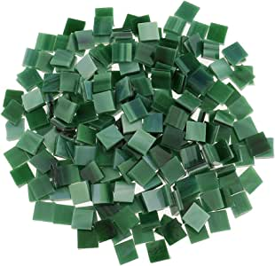 250pcs Square Glass Mosaic Tiles Pieces for Art DIY Craft 10x10mm Many Colors