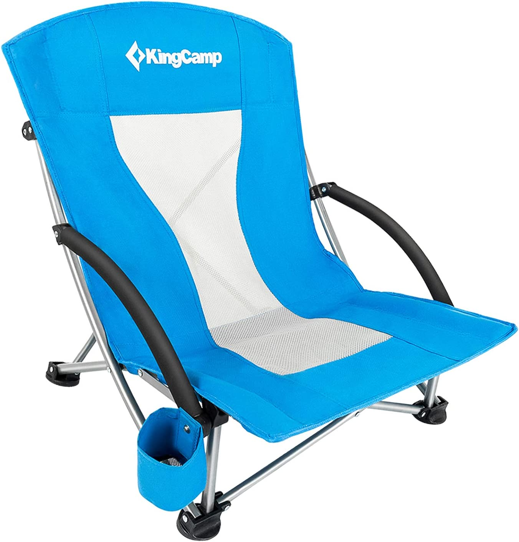 KingCamp Campingstuhl Angelstuhl Klappstuhl mit Getr/änkehalter und Seitentasche
