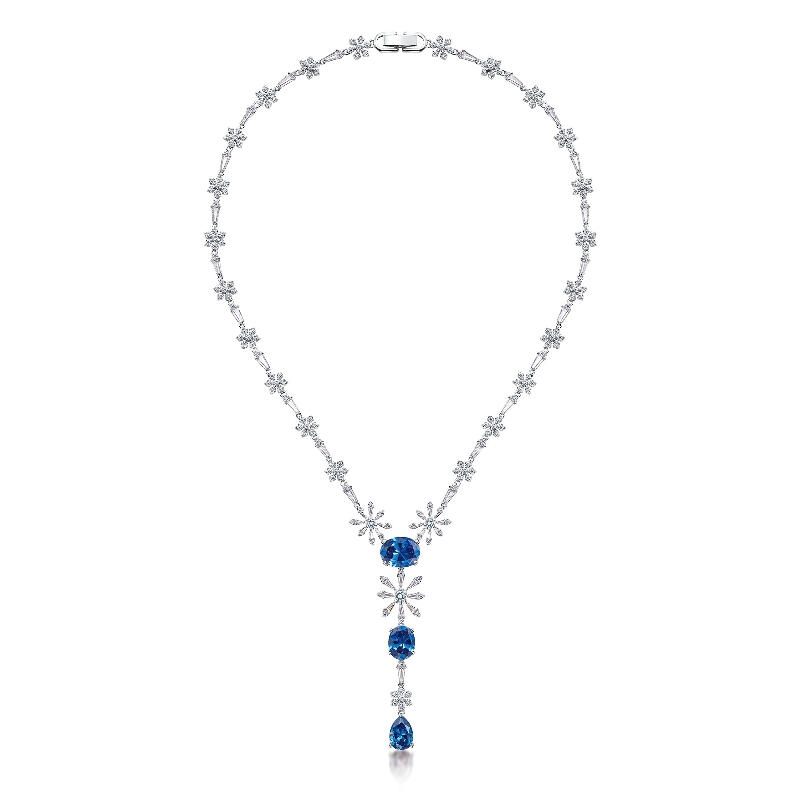 MIYUMIRO Women's Royal Y Necklace - Royal Blue Collection