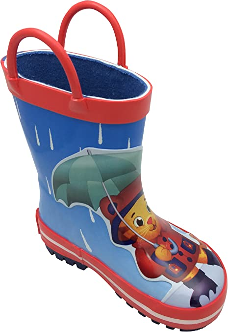 Daniel Tiger Kids 37100 Rubber Rain Boot with Handles-K