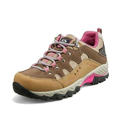 Clorts Women s Waterproof Hiking Shoe Outdoor Backpacking Trekking Trail  Walking Sneaker Khaki HKL-815C US7 e343df22f