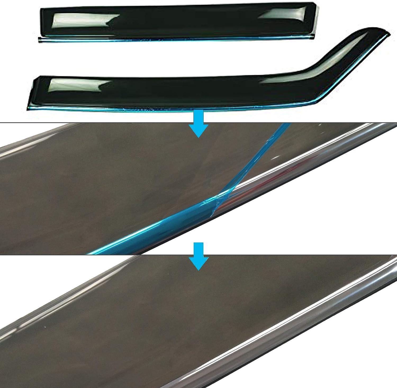 biosp Vent Visor For Mazda CX-5 CX5 2017 2018 2019 Rain Sun Shade Window Deflectors Shield Wind Guard Side-Custom Fit 4 Pcs Set Smoke Gray