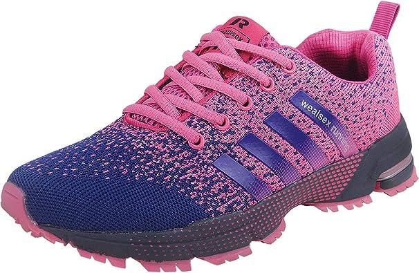 Wealsex Zapatos para Correr En Montaña Asfalto Aire Libre Deportes Zapatillas De Running para Mujer: Amazon.es: Zapatos y complementos