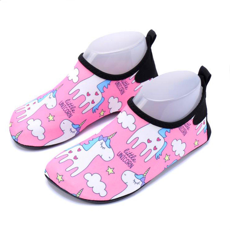 CHARMCZ Kids Water Shoes Quick Dry Boys Girls Barefoot Aqua Socks for Summer Beach Swimming Sports