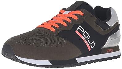 Polo Ralph Lauren Men's Slaton Polo Fashion Sneaker, Deep Loden/Black, ...