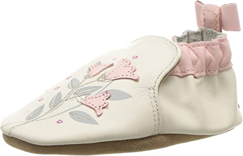 Robeez Girls' Rosealean Crib Shoe