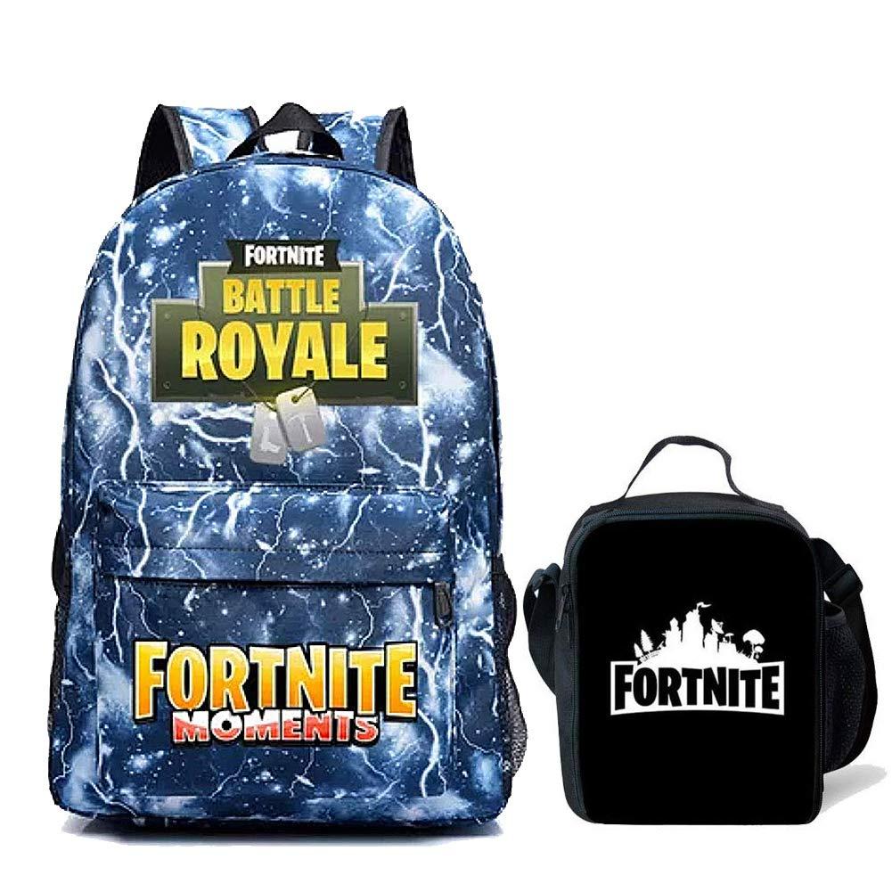 Fortnite Backpack Boy Lunch Box School Bookbag Insulated Mini Bag for Kids