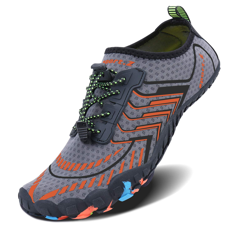MAYZERO Summer Water Shoes Men Women Quick Drying Swim Surf Beach Pool Shoes Wide Toe Hiking Aqua Shoes by MAYZERO (Image #2)