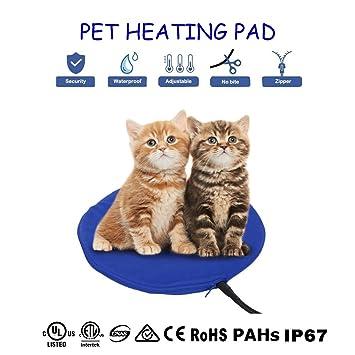 Qius home Cojín de calefacción eléctrica para mascotas,Almohadilla de calentamiento para Perros y Gatos