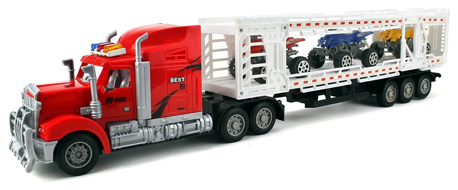 Racing 500 Trailer Remote Control Rc Transporter Semi Truck Ready To