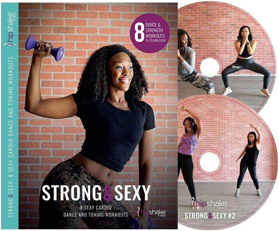 HIPSHAKE Strong and Sexy Cardio Dance DVD: Burn Fat and Build Muscle. Fat Burning Plan for Beginners & Advanced Dancers. Dance and Sweat While Having Fun!