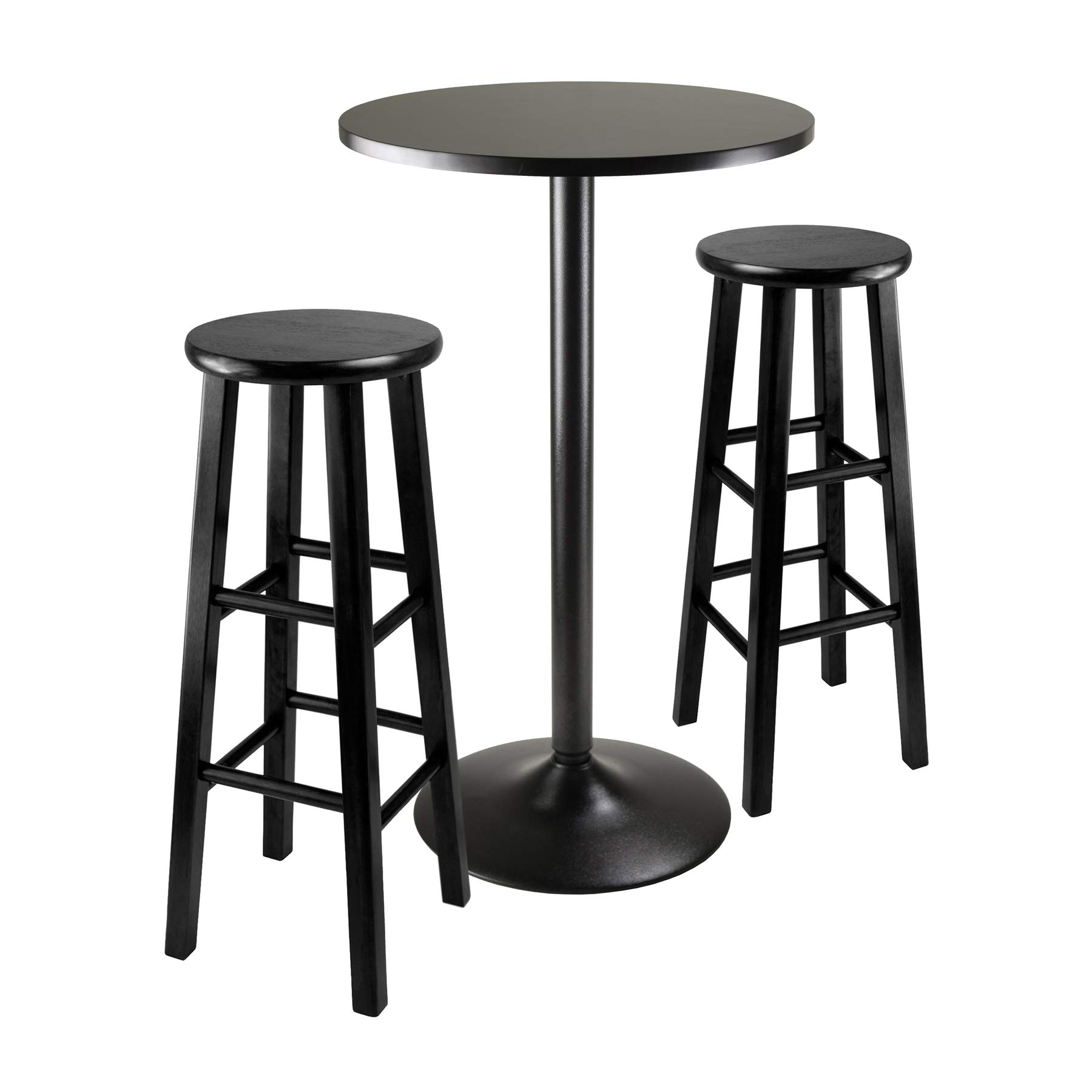 Winsome Obsidian Pub Table Set, 1, Black by Winsome
