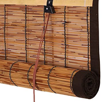 Amazon De Zemin Bambus Rollo Bambusrollo Innen Aussen Installieren