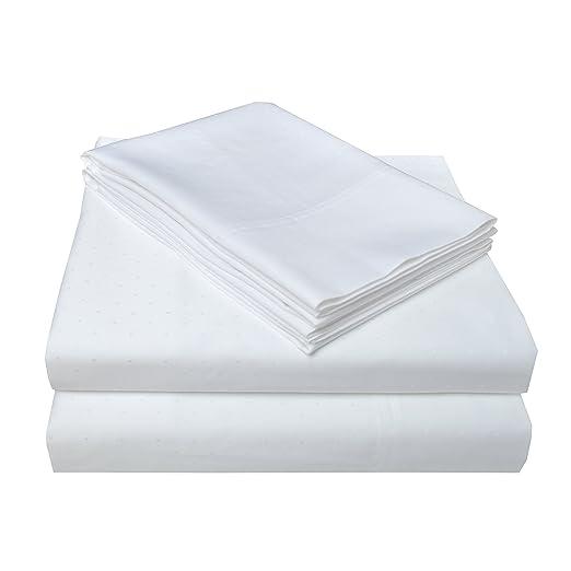 Superior - Juego de sábanas 152 x 203 cm, de algodón de 400 Hilos, con Tela de Lunares de Estilo Suizo, Color Tela Vaquera: Amazon.es: Hogar