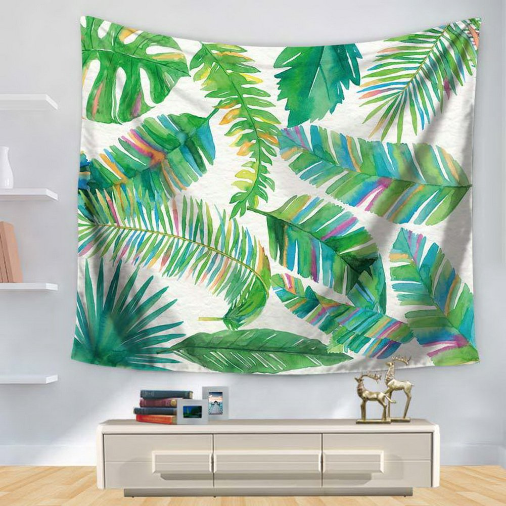 Amazoncom Crazy Cart Watercolor Leaves Wall Tapestry Home