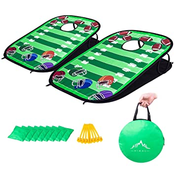 Himal Collapsible Portable Corn Hole Boards With 8 Cornhole Bean Bags (3 X  2