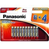 Panasonic Blister 10 Batterie Mini Stilo AAA Alcaline LR03 Pro Power