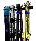 StoreYourBoard Ski Wall Storage Rack, Holds 8