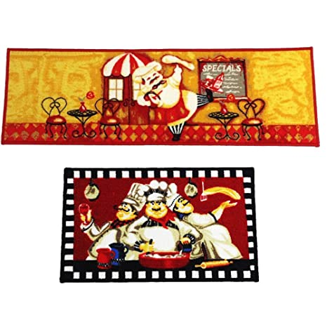 Amazon Com Wolala Home Fat Chefs Man Kitchen Rugs For Wood Floors