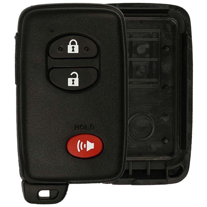 KeylessOption Keyless Entry Remote Smart Key Fob Shell Case for HYQ14AAB