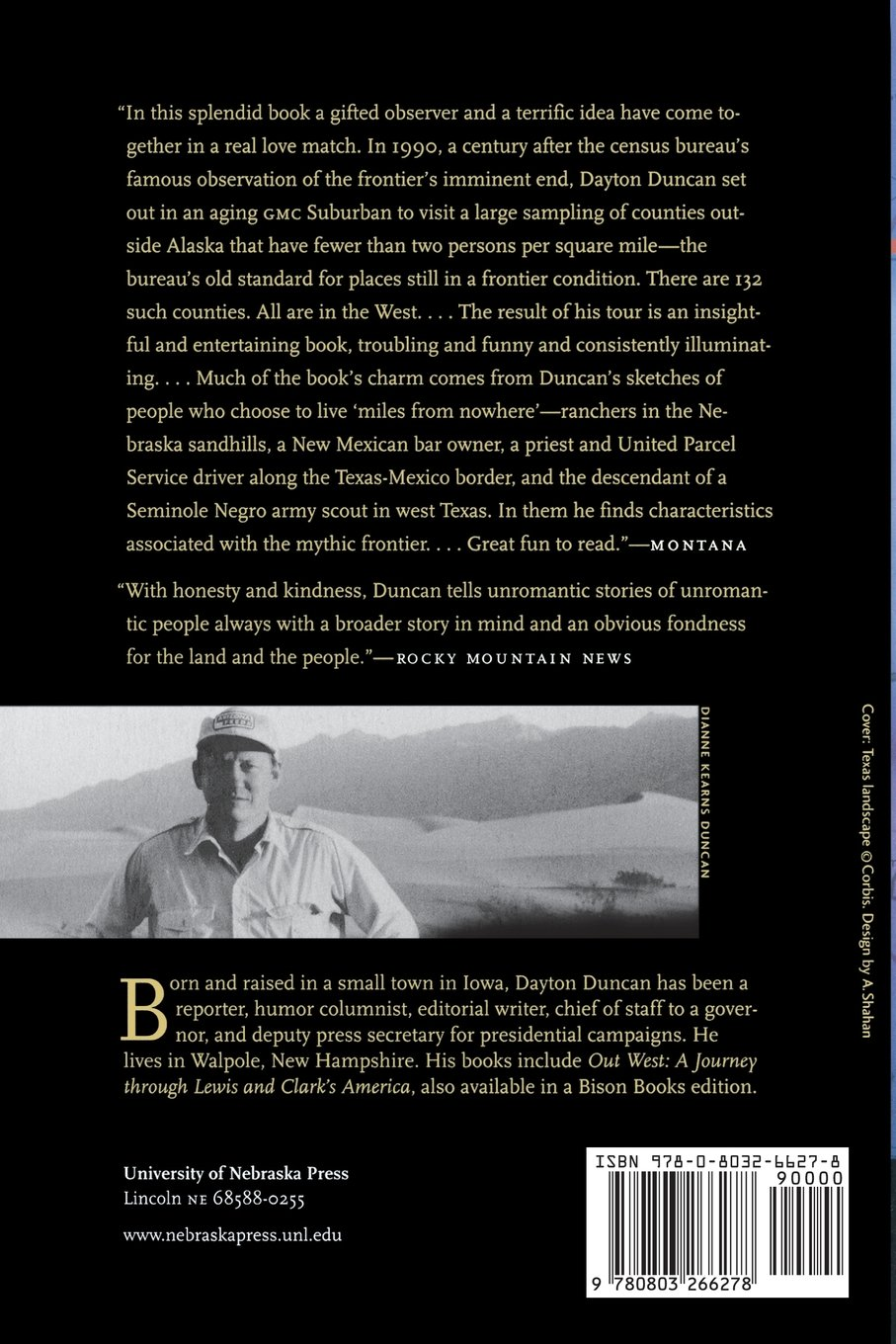 Miles From Nowhere: Tales From America's Contemporary Frontier: Dayton  Duncan: 9780803266278: Amazon: Books