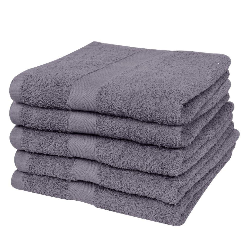 vidaXL 10 Toallas Blancas de algodón baño peluquería hotelería 30x50cm 500gr/m²: Amazon.es: Hogar