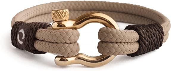 Men/'s Rope Stainless Nautical U  Paracord Steel Bracelet Shaped Buckle Sailing