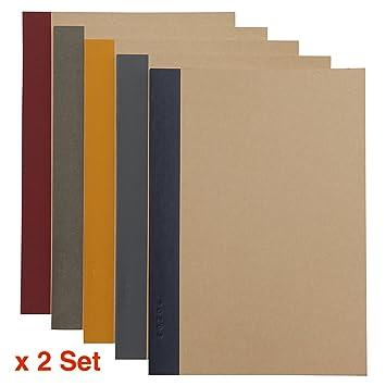 2 x MUJI - Cuaderno (A5 6 mm - Libreta de 30 hojas, 60 ...