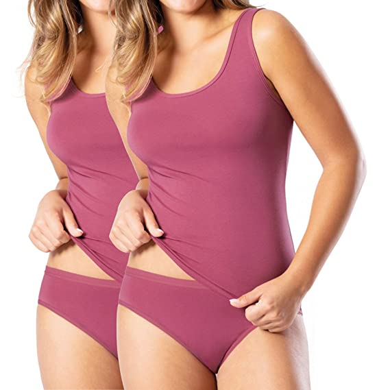 Pompadour Damen-Slip 2er-Pack Spitze Single-Jersey