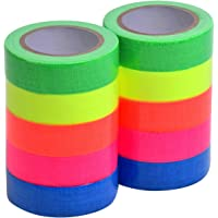 Magiin Neonplakband, 10 rollen, fluorescerende Gaffa-tape, uv-actief, voor kunsthandwerk, decoraties, 5 kleuren, 15 mm x…