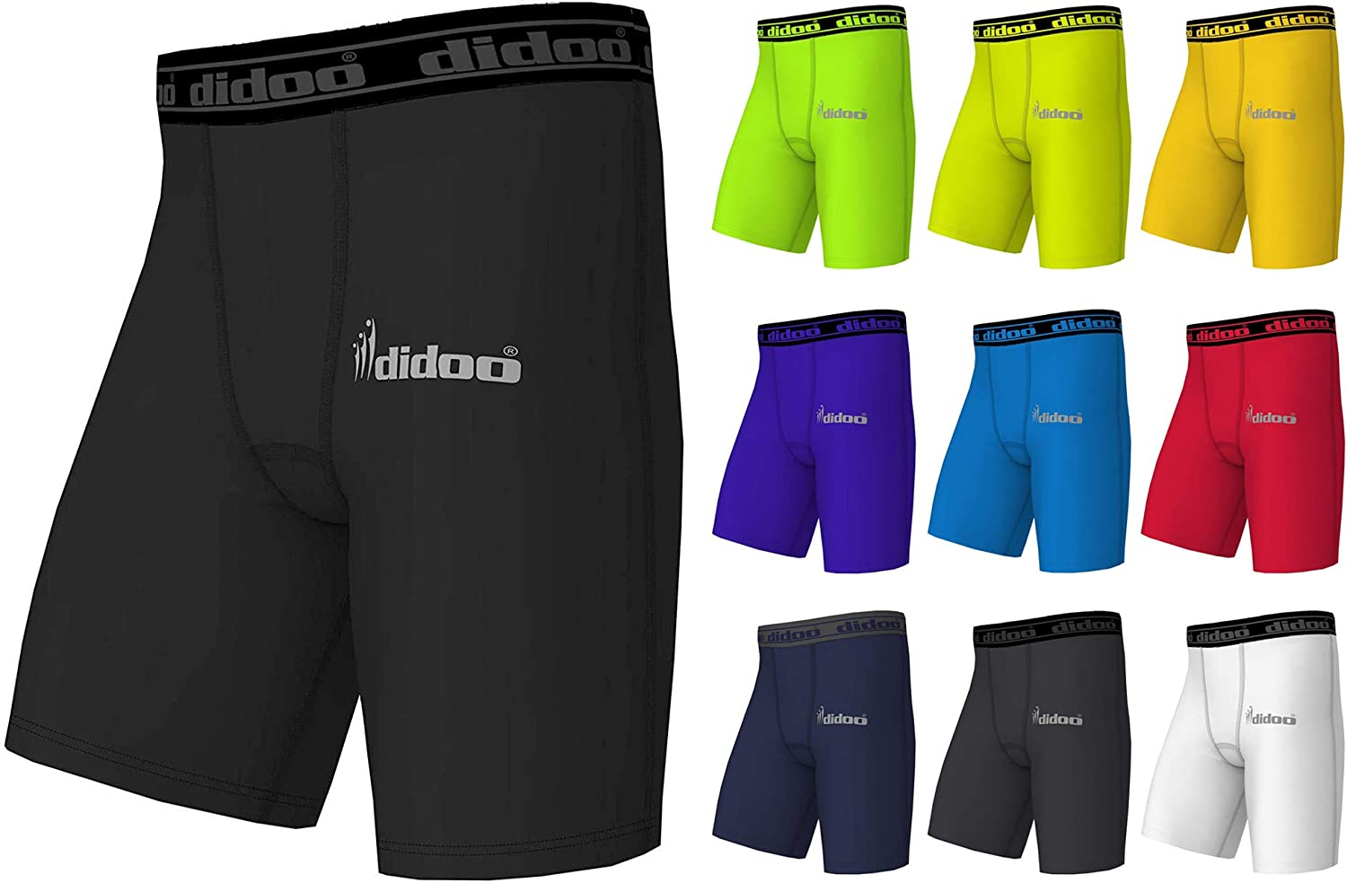 Didoo homme compression short base couches peau collants fit running sports pants