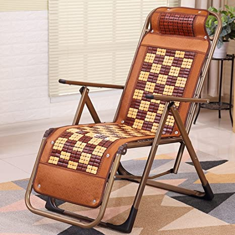 Tumbonas HWF Reclinable Bamboo Wood Silla Plegable Oficina ...