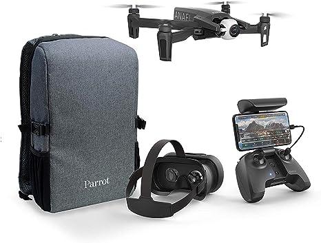 Opinión sobre Parrot PF728050 Anafi - FPV Dron Pack - Quadcopter Hiper Ligero y Plegable - FPV Cockpitglasses 3 para Vuelos Inmersivos en Full HD con Transmisión en Vivo - Paquete Completo y Compacto con Mochila