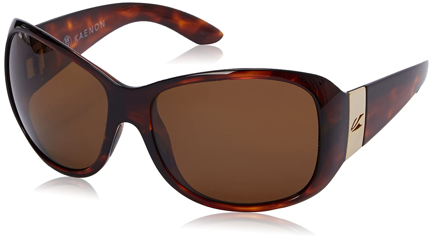 Kaenon Womens Maywood Polarized Round Sunglasses Tortoise 61.5 mm